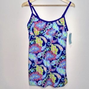 Swimdress Blue Paisley New with Tags
